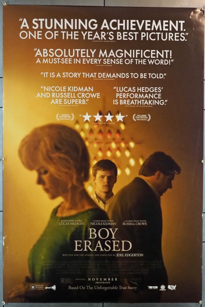 BOY ERASED (2018) 28225 Focus Features Original U.S. One-Sheet Poster (27x40) Rolled  Very Fine Condition