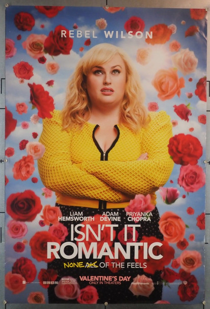 ISN'T IT ROMANTIC (2019) 28231 Warner Brothers Original U.S. One Sheet Poster (27x40) Rolled Very Fine Condition