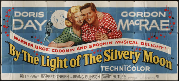 BY THE LIGHT OF THE SILVERY MOON (1953) 28298 Warner Brothers Original Twenty Four Sheet Poster (9 x 20 feet)  Very Good Condition  Folded