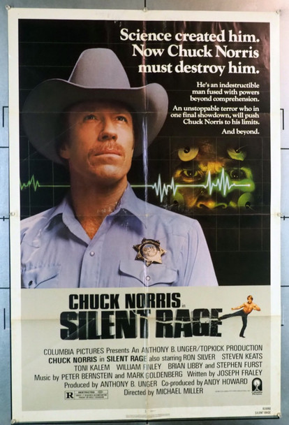 SILENT RAGE (1982) 28203 Columbia PIctures Original U.S. One-Sheet Poster  (27x41)  Folded   Average Used Condition