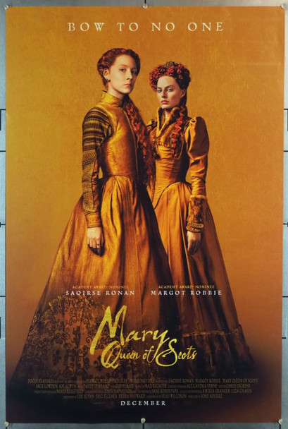 MARY QUEEN OF SCOTS (2018) 28235 Focus Features Original U.S. One-Sheet Poster (27x40) Rolled  Double Sided  Very Fine