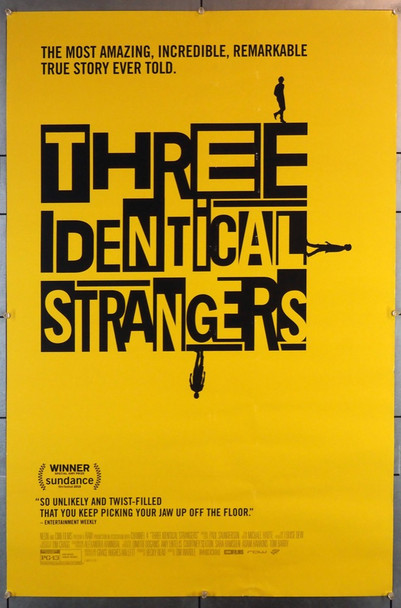 THREE IDENTICAL STRANGERS (2018) 28241 Neon Original U.S. One Sheet Poster (27x40) Rolled  Double Sided