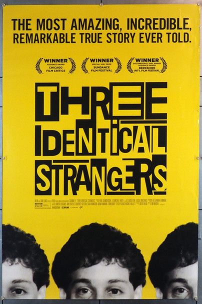 THREE IDENTICAL STRANGERS (2018) 28240 Neon Original U.S. One Sheet Poster (27x40)  Rolled  Very Fine Condition