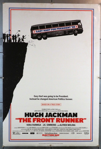 FRONT RUNNER, THE (2018) 28226 Columbia PIctures Original U.S. One-Sheet Poster (27x40) Rolled  Fine Plus Condition