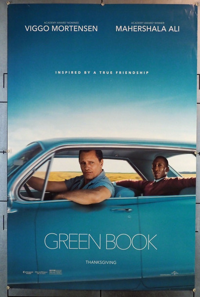 GREEN BOOK (2018) 28228 Universal PIctures Original U.S. One Sheet Poster (27x40) Rolled  Very Fine Condition