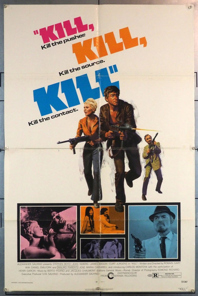 KILL (1972) 11778 Cinerama Releasing Original One-Sheet Poster (27x41)  Folded  Very Good Plus