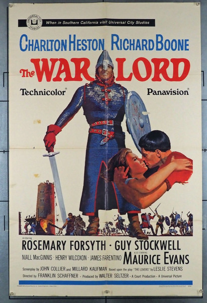 WAR LORD, THE (1965) 4182 Universal Pictures Original One-Sheet Poster (27x41) Folded  Average Used Condition  Good