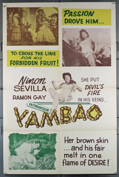 CRY OF THE BEWITCHED (1957) 4192 Original U.S. Poster (27x41) Folded  Fine Plus Condition   Theater Used