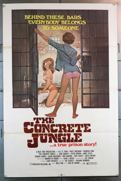 CONCRETE JUNGLE, THE (1982) 28363 Motion Picture Marketing Original U.S. One-Sheet Poster  (27x41)  Folded  Very Good Plus Condition