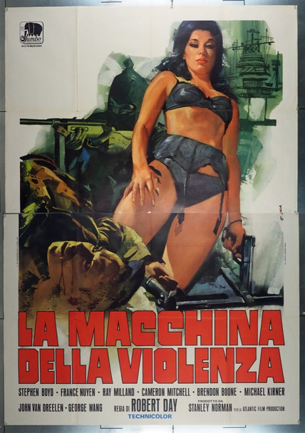 BIG GAME, THE (1973) 27989 Original Italian 4 Fogli Poster (55x79).  Folded.  Fine Condition.
