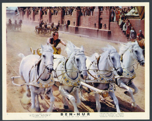 BEN-HUR (1959) 28372 MGM British Front of House Card  Color Lithograph  Very Fine Condition