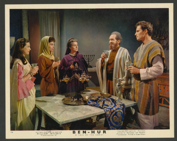 BEN-HUR (1959) 28374 MGM British Front of House Card (8x10)  Very Fine Condition