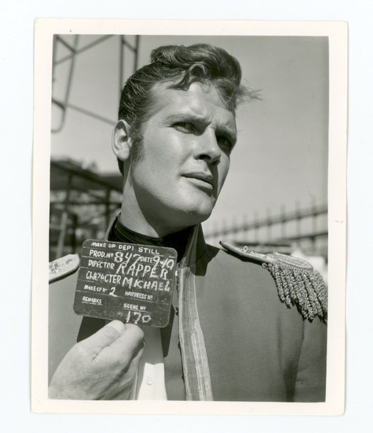 ROGER MOORE (1959) 28407 Warner Brothers Studio Wardrobe Test Gelatin Silver Photograph (4x5) Very Fine Condition