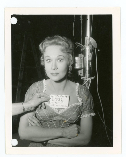 VIRGINIA MAYO (1959) 28404 Warner Brothers Studio Wardrobe Test Gelatin Silver Photograph (4x5)  Very Good Condition