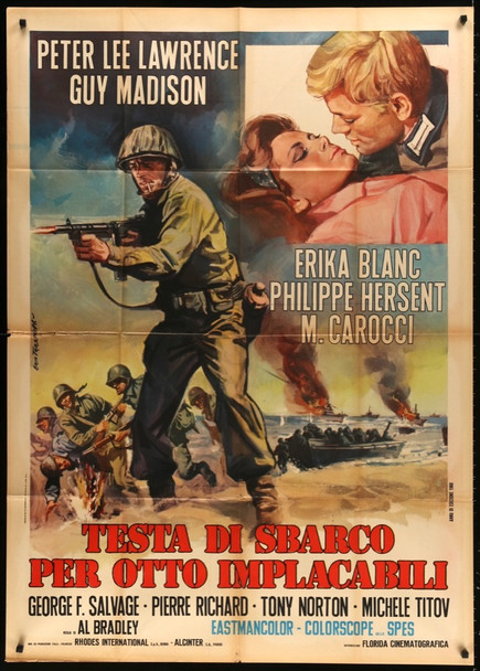 TESTA DI SBARCO PER OTTO IMPLACABILI (1968) 28223 Original Italian Poster (39x55)  Folded  Fine Plus Condition  Used