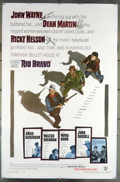RIO BRAVO (1959) 28180 Warner Brothers Original U.S. One-Sheet Poster (27x41) Linen Backed  Very Fine