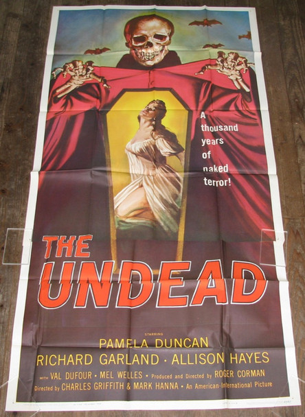 UNDEAD, THE (1957) 18901 American International U.S. Three-Sheet Poster (41x81) Folded  Very Fine