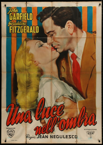 NOBODY LIVES FOREVER (1946) 28220 Warner Brothers Original Italian Poster (39x55) Folded  Very Good Condition