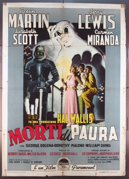 SCARED STIFF  (1953) 25561 Paramount Original Italian 39x55  Folded  Very Good Condition