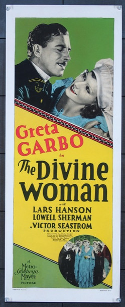 DIVINE WOMAN, THE (1928) 26260 MGM Original U.S. Insert Poster (14x36) Paper Backed