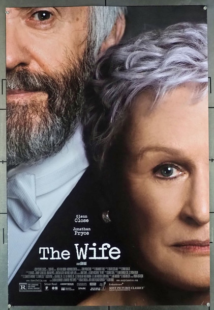 WIFE, THE (2017) 28068 Original Sony Pictures Classics One Sheet Poster (27x41).  Rolled.  Very Good Condition.