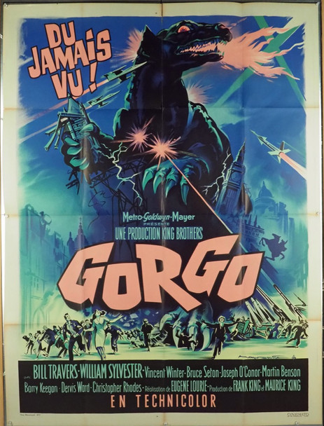 GORGO (1961) 19408 MGM Original French Grande (47x63)  Folded  Fine Plus Condition  Art by Roger Soubie
