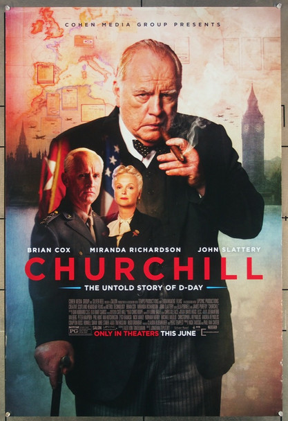 CHURCHILL (2017) 27083 Original Cohen Media Group One Sheet Poster (27x41).  Rolled  Very Fine.