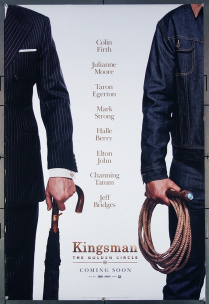 KINGSMAN: THE GOLDEN CIRCLE (2017) 26945 Original Fox Release 2017 One Sheet Poster (27x40)for Kingsman: The Golden Circle directed by Matthew Vaughn and featuring Channing Tatum, Colin Firth, Halle Berry, and Julianne Moore.