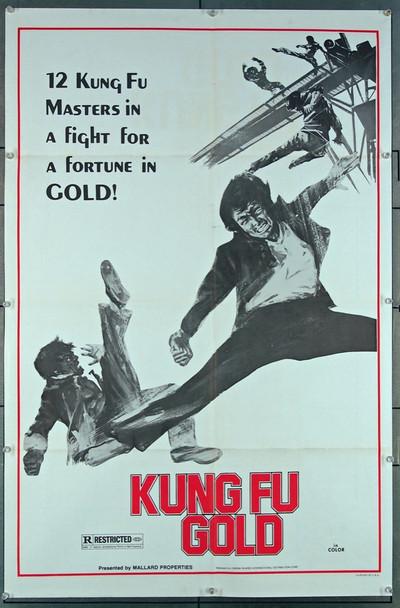 KUNG FU GOLD (1974) 26885 Cinema Shares International Original U.S. One-Sheet Poster (27x41) Folded  Very Fine Condition