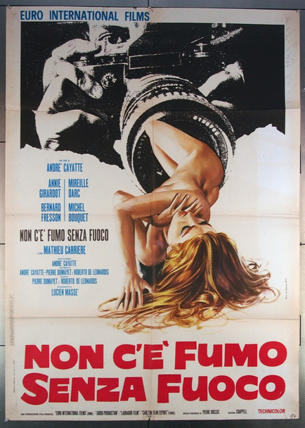WHERE THERE'S SMOKE (1973) 27070 Original Italian 39x55  Folded  Fine Plus Condition