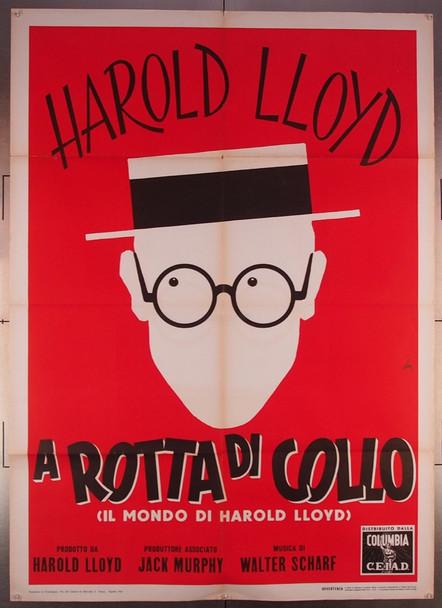 SPEEDY (1928) 27577 Columbia Pictures Distribution Original Italian Two-Foglio Poster (39x55) Folded  Fine Condition