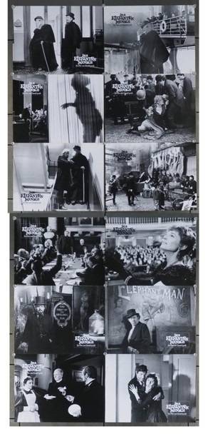 ELEPHANT MAN, THE (1980) 4339 Original German Set of 12 Black and White Stills (9x12).  Very Fine Condition.