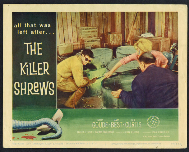 KILLER SHREWS, THE (1959) 4350 Original McLendon Radio Pictures Group of 4 Lobby Cards (11x14).  Very Good AVERAGE USED Condition.