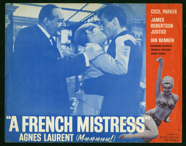FRENCH MISTRESS, A (1960) 4352 Original Films Around the World Scene Lobby Card (11x14).  Fine Condition.