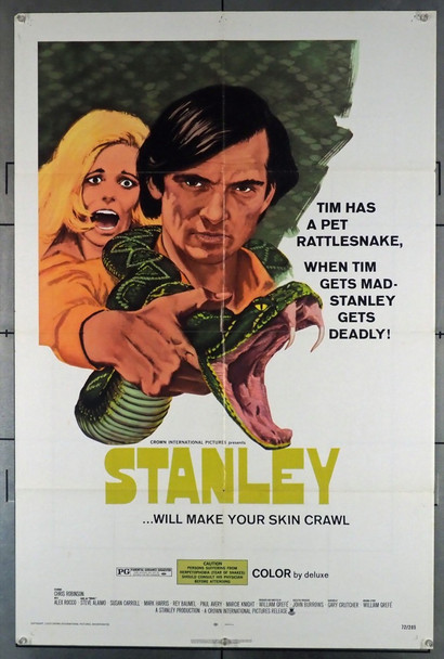 STANLEY (1972) 3555 Crown International U.S. One Sheet Poster (27x41) Folded  Average Used Condition