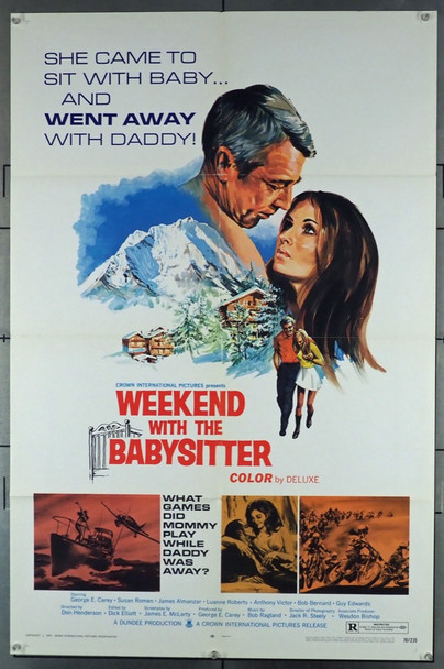 WEEKEND WITH THE BABYSITTER (1970) 3553 Crown International Original U.S. One Sheet Poster (27x41) Folded  Fine Plus to Very Fine