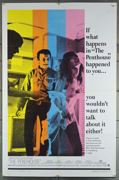 PENTHOUSE, THE (1967) 2921 Paramount Pictures Original U.S. One Sheet Poster (27x41) Folded  Very Fine