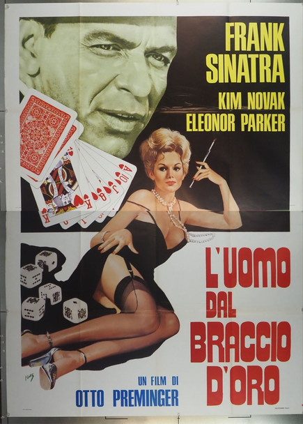 MAN WITH THE GOLDEN ARM, THE (1955) 28476 Original Italian Poster (79x55)  Re-release of 1961  Art by Moz