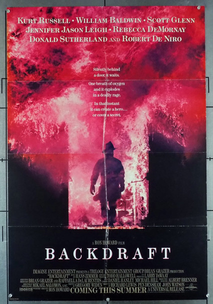 BACKDRAFT (1991) 12156 Universal Pictures Original Advance One Sheet Poster (27x41) Folded  Fair Condition