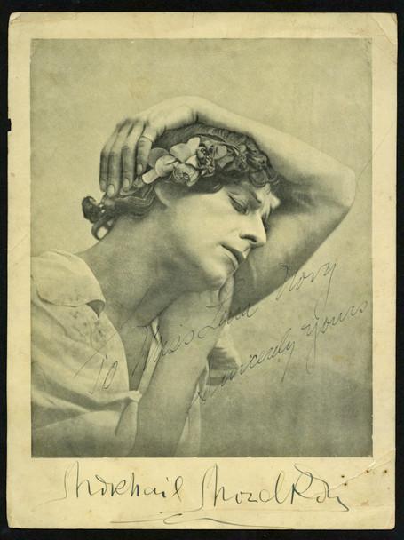 MIKHAIL MORDKIN (10'S) 28501 Signed Printed LIthograph of Ballet Dancer Mikhail Mordkin  circa 1920s  Condition Fair