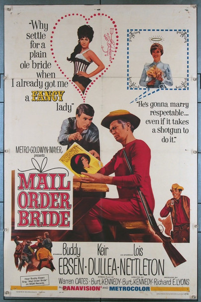 MAIL ORDER BRIDE (1964) 11091 MGM Original U.S. One Sheet Poster (27x41)  Folded  Average Used Condition