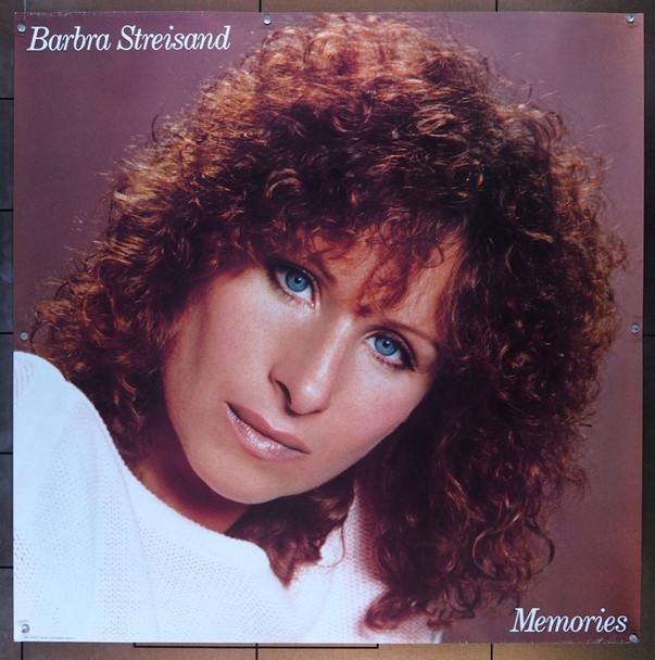 BARBRA STREISAND MEMORIES  (1981) 6333   Columbia Records Original Promotional Poster (36x36) for MEMORIES by Barbra Streisand