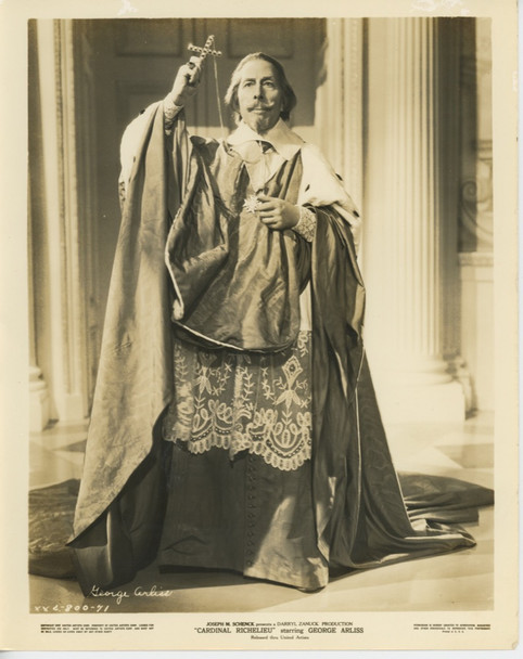 CARDINAL RICHELIEU (1935) 28526  GELATIN SILVER PRINT  GEORGE ARLISS United Artists Original Gelatin Silver Print (8x10) Studio Photograph  Fine Plus Condition