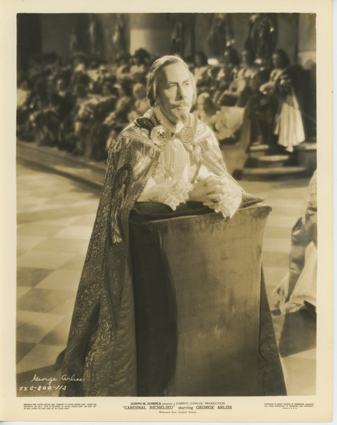 CARDINAL RICHELIEU (1935) 28527  GELATIN SILVER PRINT  GEORGE ARLISS United Artists Gelatin Silver Print (8x10)  Studio Photograph  Fine Plus Condition