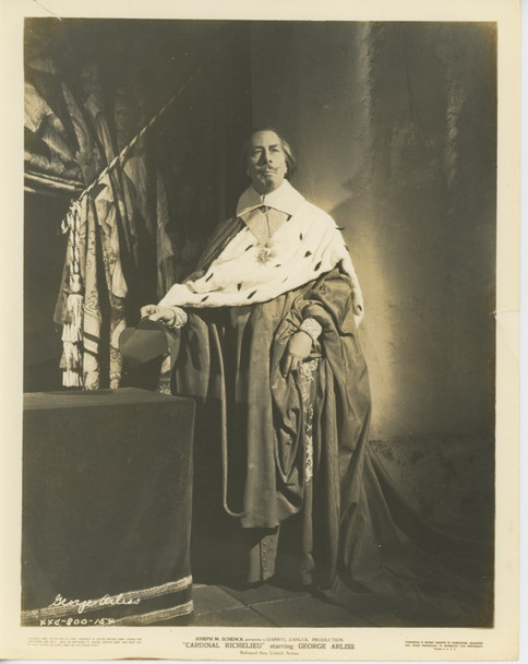 CARDINAL RICHELIEU (1935) 28528  GELATIN SILVER PRINT United Artists Gelatin Silver Print (8x10) Fine Plus Condition