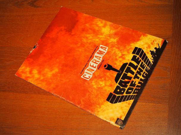 BATTLE OF THE BULGE (1966) 28509 Warner Brothers / Cinerama Roadshow Program  Good Condition