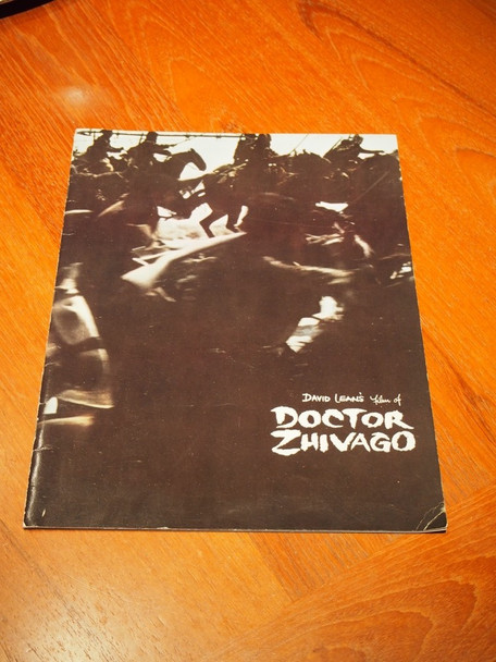 DOCTOR ZHIVAGO (1964) 28511  ROADSHOW PROGRAM BOOK MGM Original 70MM Roadshow Program Book  Very Good Plus to Fine Condition