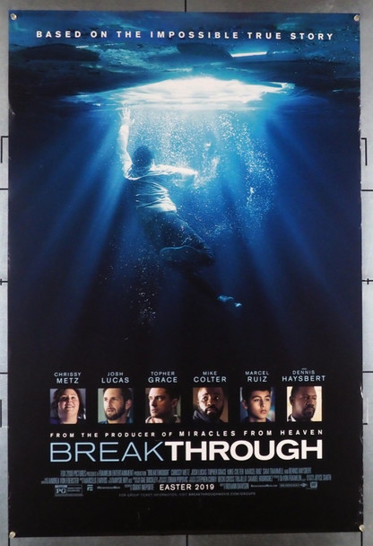 BREAKTHROUGH (2019) 28538 21st Century Fox Original U.S. One-Sheet Poster (27x40) Rolled  Very Fine