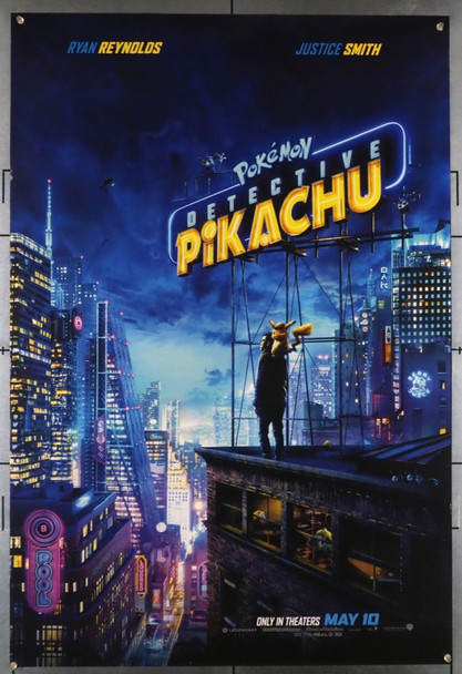 POKEMON DETECTIVE PIKACHU (2019) 28552 Warner Brothers Original U.S. Advance Style B One-Sheet Poster (27x40) Rolled  Very Fine