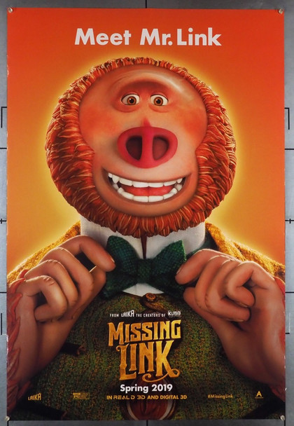 MISSING LINK (2019) 28550 Annapurna Distribution Original U.S. Advance One-Sheet Poster (27x40) Very Fine Rolled